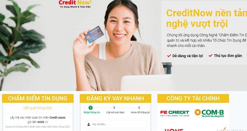 Credit Now là một dịch vụ cho vay tiền online thịnh hành hiện nay