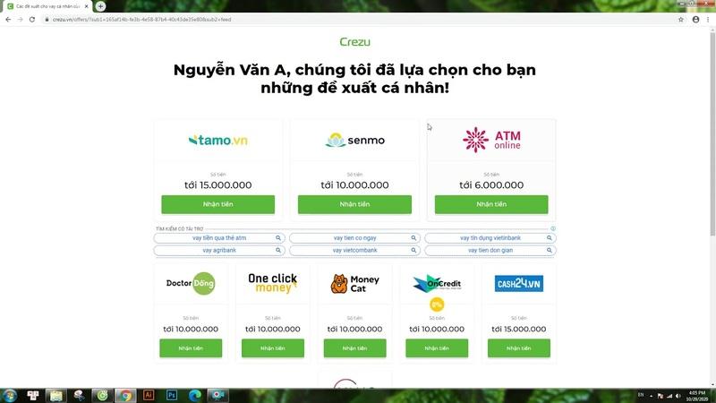 Crezu sẽ lọc cho bạn các đề xuất từ những tổ chức tài chính tốt nhất của Việt Nam