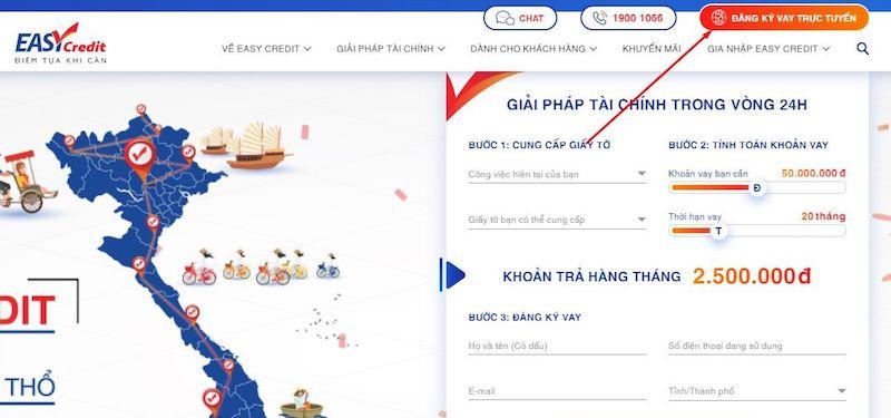 Đăng ký vay online tại Easy Credit