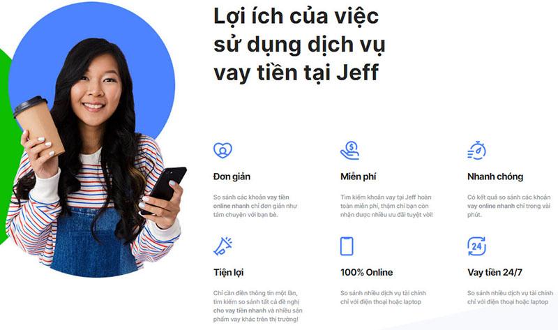 Jeff App là ứng dụng vay tiền trực tuyến phổ biến