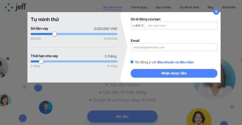 Tải App và đăng ký gói vay đơn giản