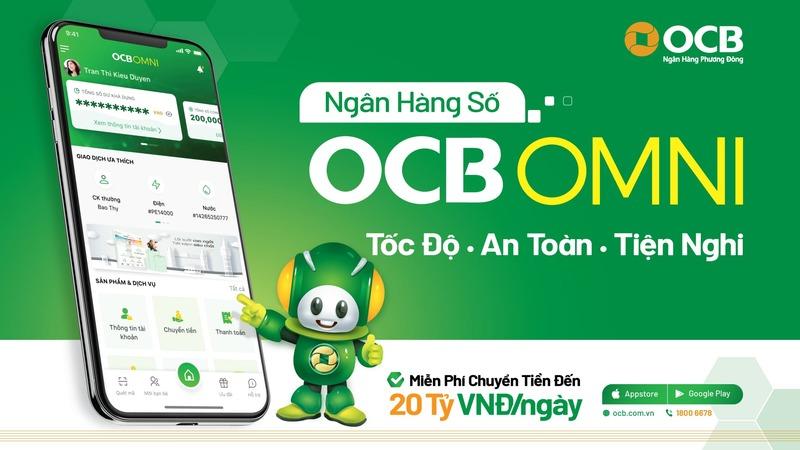 OCB Omni là ngân hàng số giúp khách hàng thực hiện các dịch vụ hoàn toàn online