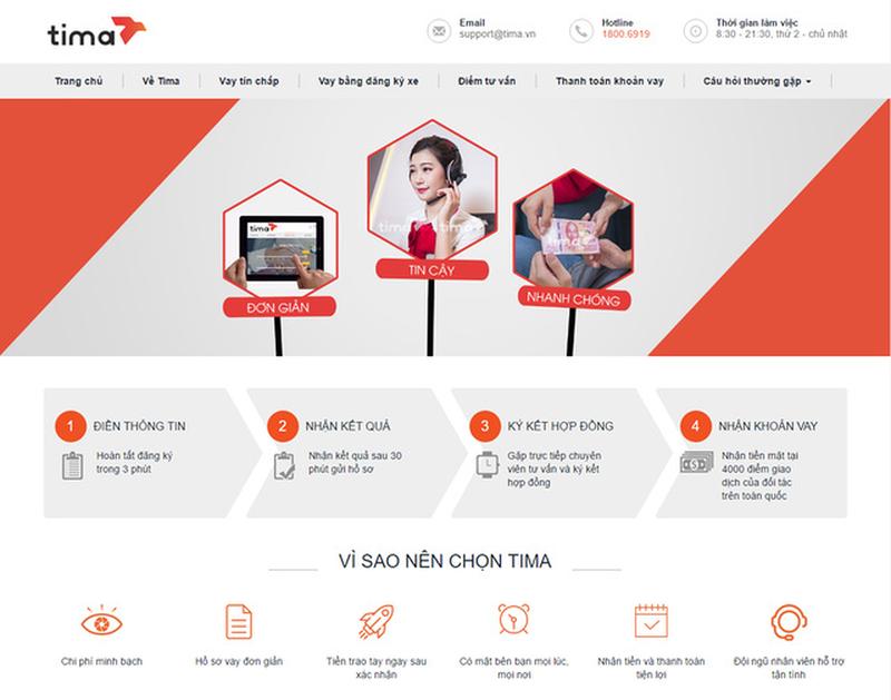 Bạn cần truy cập vào website chính thức của Tima