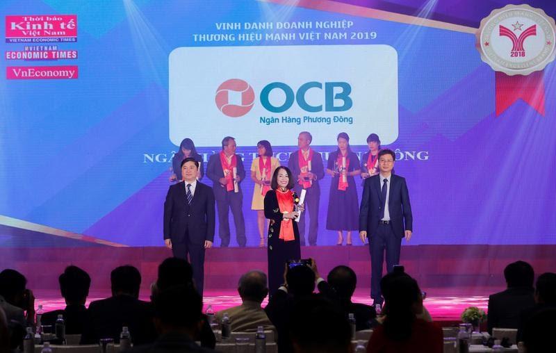 Ngân hàng Phương Đông đã vinh danh nhận giải thưởng thương hiệu mạnh Việt Nam 2019