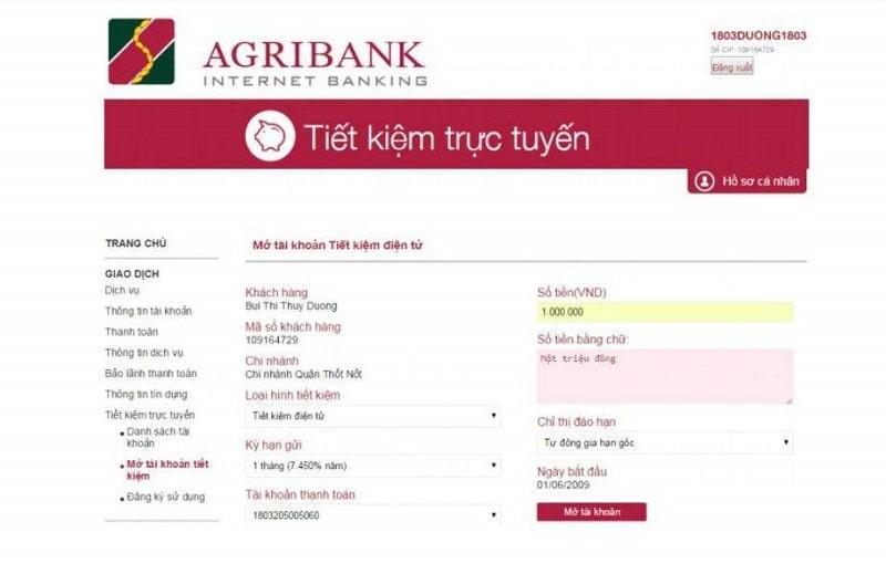 Mở tài khoản tiết kiệm Online Agribank đơn giản và nhanh chóng