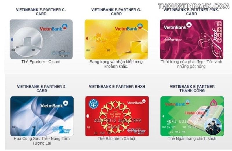 Các loại thẻ ATM ngân hàng Vietinbank